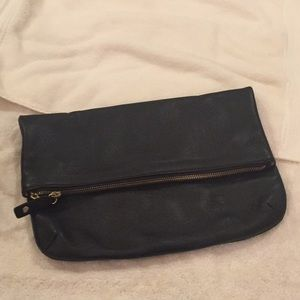 Talbots clutch.  100% leather